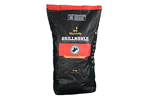 BlackSellig 10 Kg Steakhousekohle reines Quebracho Blanco Holz Grillkohle - perfekte Restaurantqualität