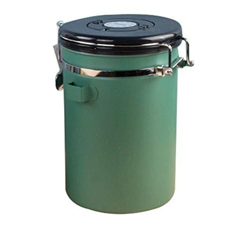 SOKLIT - Bote de café, acero inoxidable, 27 oz, hermético, contenedor de almacenamiento de alimentos de gran capacidad, tarro de café con seguimiento de fechas.