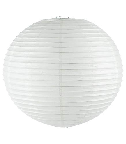 Lanterne boule blanche en papier Ø 60 cm Boule chinoise