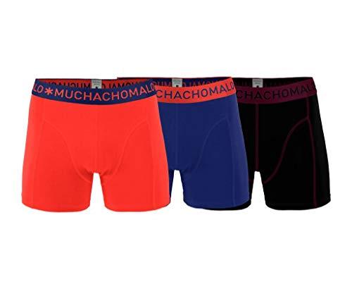 Muchachomalo heren boxershorts 3-pack Blauw/Rood/Zwart Maat: XXL