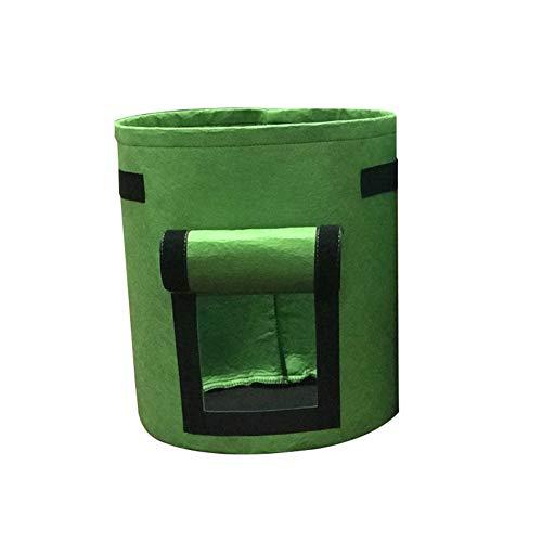 Homeofying Pot de fleurs pliable en tissu non tissé pour usage extérieur et intérieur Vert