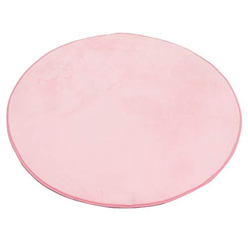 Générique Sharplace Tapis Super Doux Coussin Pad Tapis de Sol en Polaire Corail pour Enfants Tapis de Jeux et d'Eveil Tente Maison - Rose