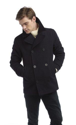 Original Montgomery PEA Coat Herren, Größe M, Navy
