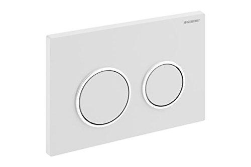 Geberit Betätigungsplatte Kappa21 für 2 Mengen Spülung / Ring glanz / Platte und Drücker weiß 115240KJ1
