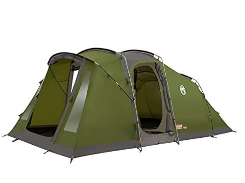 Tente de camping familiale à 4 places modèle Vespucci marque Coleman avec tissu à feu retardé et sac pour le transport