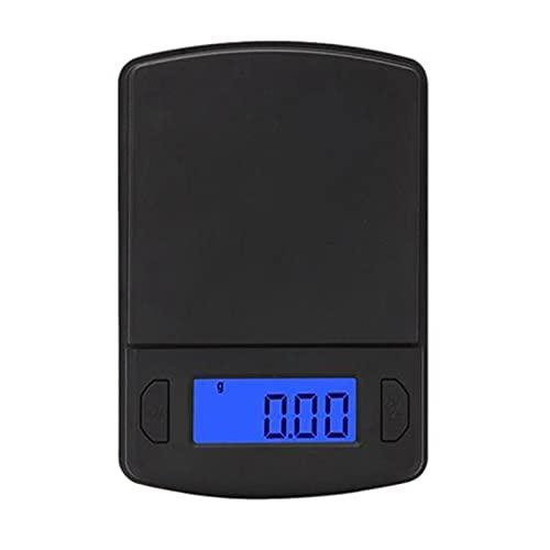 Timagebreze Lcd ElectróNica Digital de Bolsillo BáScula 200Gx0.01G Joyas Oro Pesaje Gramo Equilibrio Balanza de Peso PequeeA
