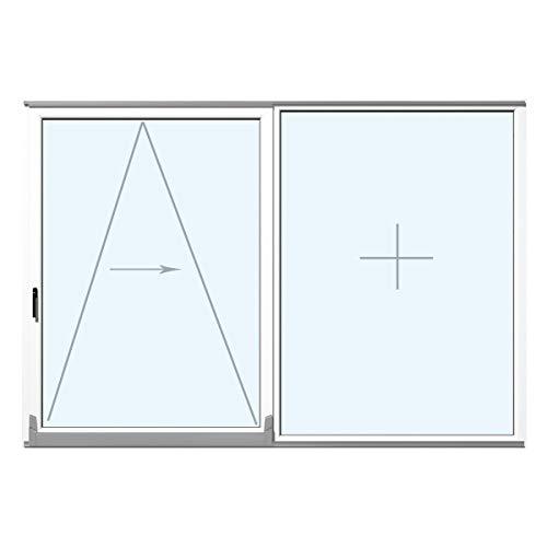 Parallel Schiebe Kipp Tür Schiebetür PSK Kunststoff PVC Weiß Glas:2-Fach, BxH:1700x2300, Anschlag:Griff links (Anschlag rechts)