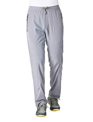 Rdruko Men's Sweatpants with Zipper Pockets Open Bottom Athletic Pants for Jogging, Workout, Gym, Running, Training(Light Grey, US M)