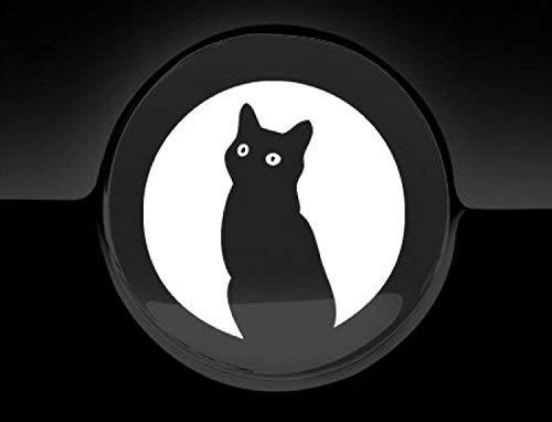 JCM Moon Cat Tankdeckel Cover Auto Aufkleber, weiß
