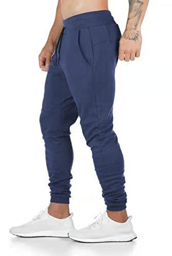 Davicher Pantalones Deportivos para Hombre Jogging Pantalones Jogger Pantalones de Deporte para Hombre de algodón Ajustados Ajustados Pantalones
