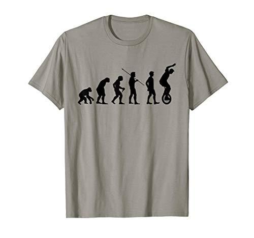 Einrad Evolution Einradfahrer Einradfahrerin Zirkus Geschenk T-Shirt