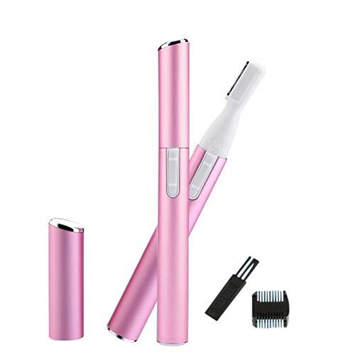 KISSION Mini Coupe-sourcils électrique Femme Portable Tourner Rasoir Epilateur Facial, Tondeuse de Précision pour le Visage, les Sourcils, les Aisselles, le Corps