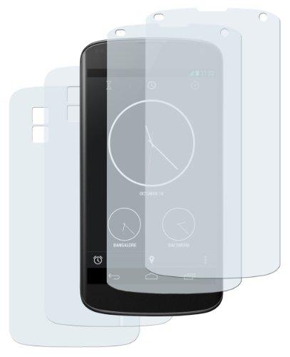 mumbi Schutzfolie kompatibel mit LG Google Nexus 4 Folie klar, Bildschirmschutzfolie (2X)