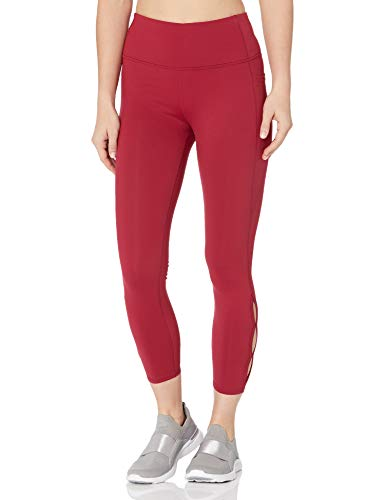 Skechers Walk Go Flex High Waisted Side Slit Detail Legging Pantis, Bet Rojo, XXL para Mujer