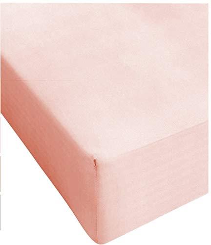 Centesimo Web Shop Lenzuolo sotto 160X210 CM Misura Speciale Vari Colori 160 210 Cotone Prodotto in Italia - - 160x210 cm Rosa