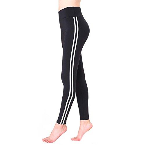 junkai Leggins Mujer Deportivos, Pantalones de chándal de Mujer, Slim Fit Elastic Leggins, Casual Pantalones de Deportes, Leggings atléticos de la Aptitud
