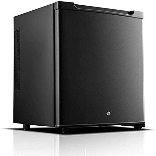 Mini Fridge 30L, under Counter Freestanding Fridge Freezer Table Top Fridge for Bedrooms Cools & Heats Ideal for Bedroom And Small Office Space Easy To Clean, Silent,White (Color : Black)