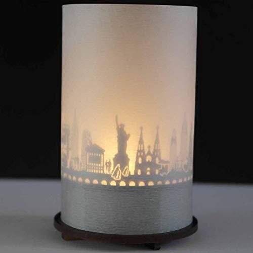 13gramm New York-Skyline Windlicht Schattenspiel Premium Geschenk-Box Souvenir, inkl. Kerzenhalter, Kerze, Projektionsschirm und Teelicht
