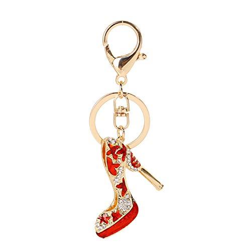 LAIGESHADIAO sleutelhanger sleutelhanger creatief legering diamant schilderij olie hoge hak kleine hanger meisje tas opknoping ornamenten