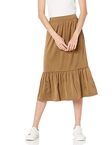 The Drop Jerry, Gonna Midi con Orlo Largo Elastico sul Retro E Setoso Skirts Donna