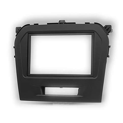 Rumors Ajuste para Suzuki Vitara 2015- Radio de automóvil 9 Pulgadas Big Screen 2din Fascia Frame Adaptador DVD Player Dash Play Frame Kit de Marco (Color Name : Black)