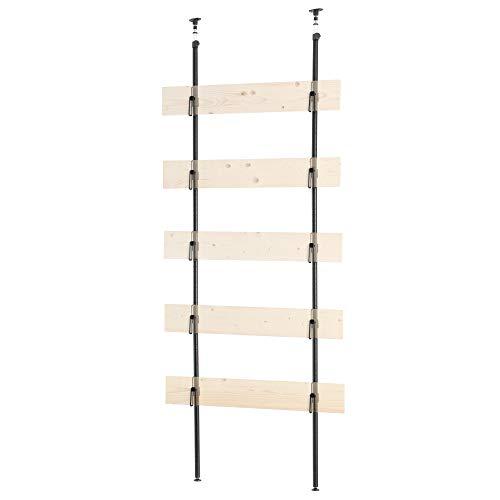 【2レッグウォール】ワンバイ材で作る突っ張り式板壁フレームキット 賃貸でも釘打ち・ネジ止めOK 天井高221~301cm対応 ハーフ・簡単DIY スペースに合わせて幅・高さ設定可能 スティーリーシリーズの2レッグシェルフ・ペグウォールと組み合わせ可能