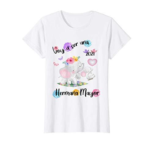 Voy a ser una hermana mayor 2021 Anuncia embarazo Elefante Camiseta