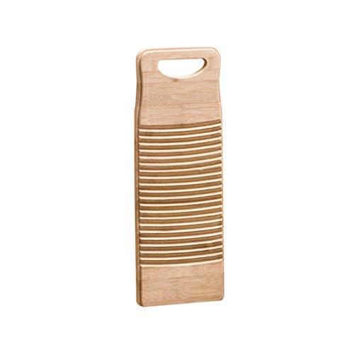 DOITOOL Naturlig bambu tvättkläder tvättbräda tvättbräda skrubbning tvättbräda för hembutik skola 50 cm