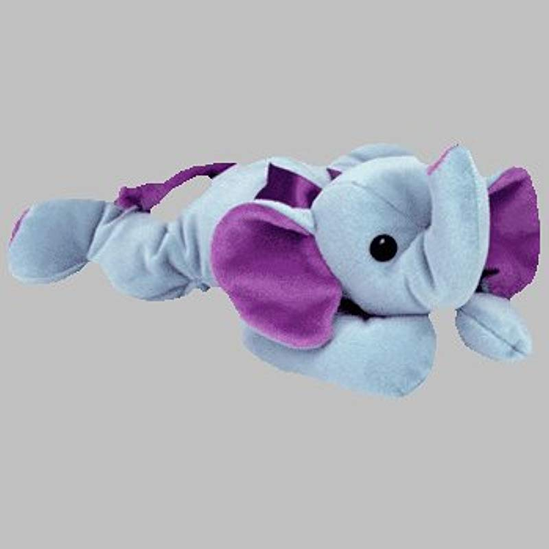 TY Pillow Pal SQUIRT The Elephant Two Tone Blues Version