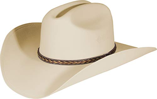 Enimay Western Cowboy & Cowgirl Hat Pinch Front Wide Brim Style (Small   Medium, Classic Sand)