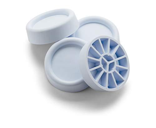 Meliconi set houder voor wasmachines en drogers, 4 stuks, rubber, antislip, gemaakt in Italië.