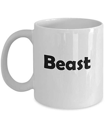 N\A Taza de Regalo novedosa de la Bella y la Bestia de Disney para Esposa, Novia, Hermana, Taza de cerámica para café y té, Bestia