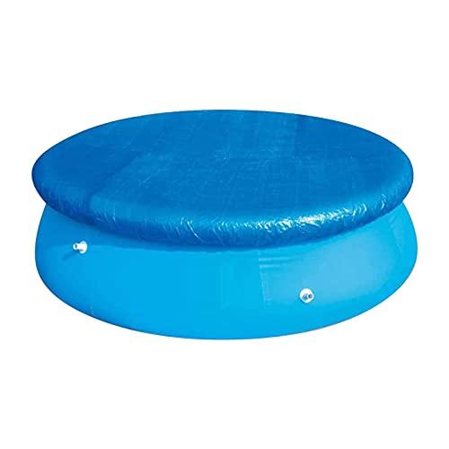 WingSin, copertura per piscina, 305 cm, impermeabile, rotonda, con lacci in corda, facile da installare, protezione per piscina da terra, 305 cm, colore blu