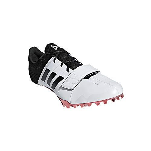 Adidas Adizero Accelerator, Scarpe chiodate da corsa, Bianco (FtwrWhite/CoreBlack/ShockRed), 41 1/3 EU