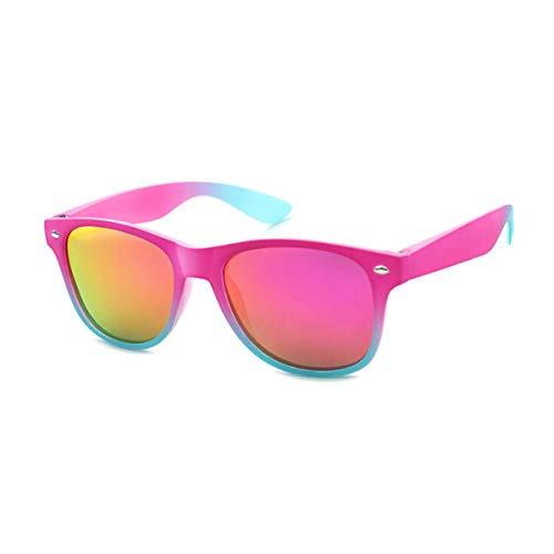 Kiddus Gafas de Sol POLARIZADAS para niña niño. UV400 Protección 100% contra rayos ultravioleta. A partir de 6 años. RESISTENTES a los golpes. Seguras, ligeras y confortables (Rosa degradado)