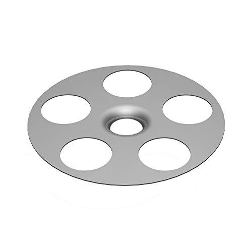 LUX ELEMENTS Unterlegscheibe 35 mm Durchmesser, FIX-S 35 LFIXZ1033, Silber, 10 Stück