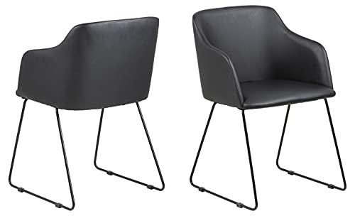 AC Design Furniture Nils Stuhl, Esszimerstuhl, Sessel, Loungestuhl, Polyurethan, Schwarz, One Size