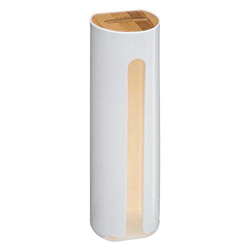 Baltik Wattepadspender Wattepadhalter für Wattepads 24x6,5x7,5 cm (Weiß)