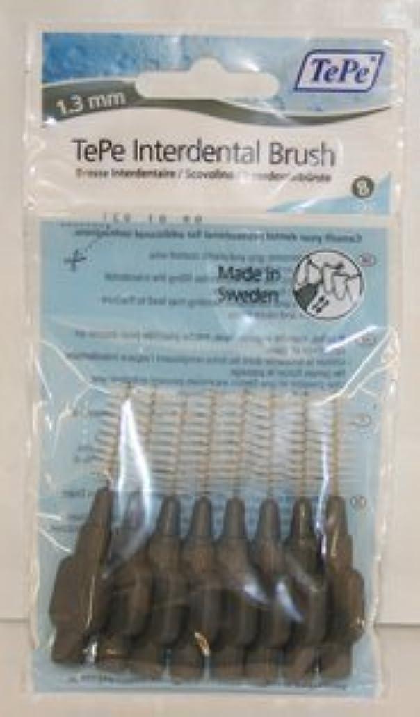 一致パン雄大なTePe Interdental Brushes 1.3mm Grey - 1 Packets of 8 (8 Brushes) by TePe