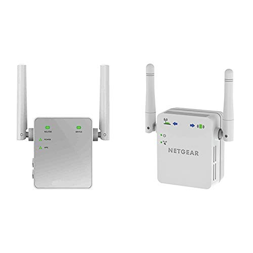 Netgear EX3700 Repetidor de Red WiFi Extensor Amplificador de Cobertura AC750, Doble Banda + WN3000RP Repetidor WiFi N300, Amplificador WiFi Velocidad de hasta 300Mbps, Puerto LAN Gigabit