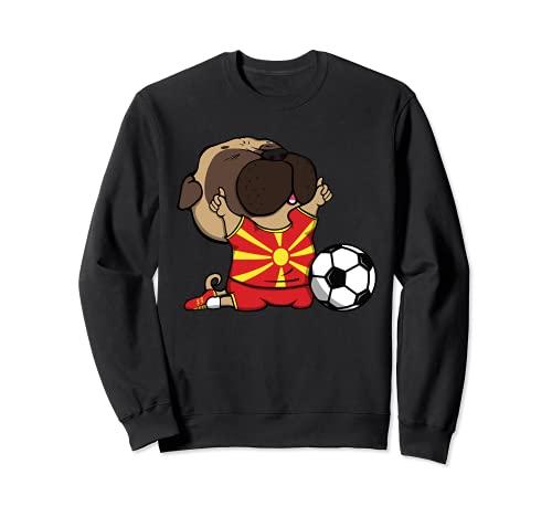 Pug Macedonia Ftbol Fans Jersey Macedonia Amantes del Ftbol Sudadera