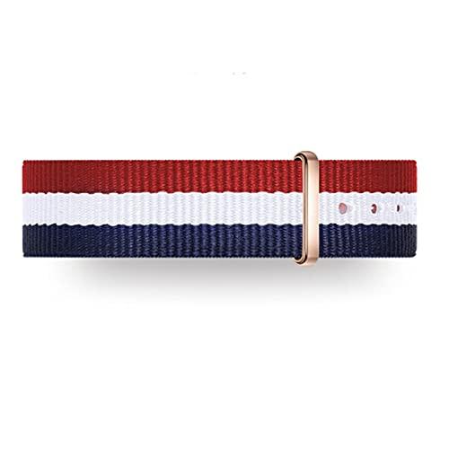 FJXJLKQS Correas de Reloj de Repuesto de Nailon de Primera Calidad para Hombres y Mujeres, Relojes y Relojes Inteligentes Reemplazo de Malla Correa de Reloj Transpirable,Multicolour-14mm
