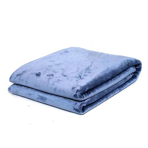 Flanel Fleece Lanza Manta Con Pom-Poms, Tira Manta Para Silla De Cama Individual, Súper Suave Sofá De Microfibra, Buzzy Acogedor Para Oficina Y Sala De Estar,Blue-200 * 230cm