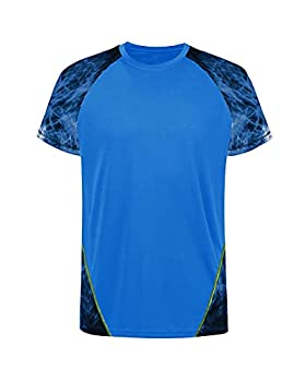 Workout Shirts for Men Fashion Casual Summer Cooling Quick Dry Gym Sports Hiking Shirts Novelty T-Shirts Royal Blue X-Large