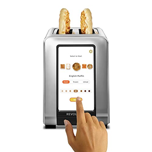 Revolution Cooking R180 High-Speed 2-Slice Stainless Touchscreen Toaster. Exclusive InstaGLO™ Technology with 63 Digital Settings. Makes Perfect Toast Every Time.