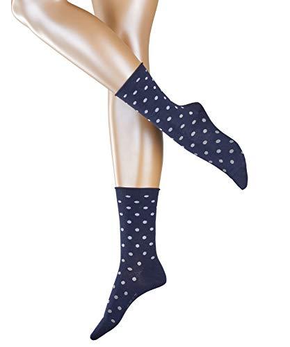 ESPRIT Damen Multicolour Dot W SO Socken, Blau (Marine 6120), 35-38 (UK 2.5-5 Ι US 5-7.5) (2er Pack)