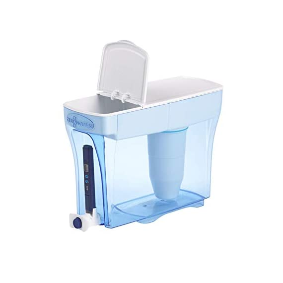 ZeroWater ZD-018 ZD018, 23 Cup Water Filter Pitcher with Water Quality Meter 3 Included Components: Zerowater Zd-018 23-Cup Water Dispenser And Filtration System;Electronic Tds Water Testing Meter;1- Zerowater Filter Cartridge That Removes Contaminants That Cause Water To Have An Unpleasant Taste