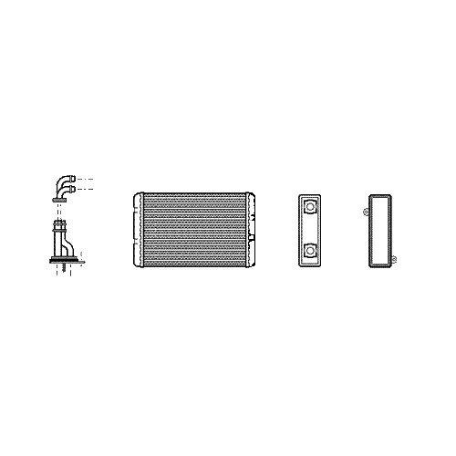 Fantastic Prices! Van Wezel 06006173 Heat Exchanger, interior heating