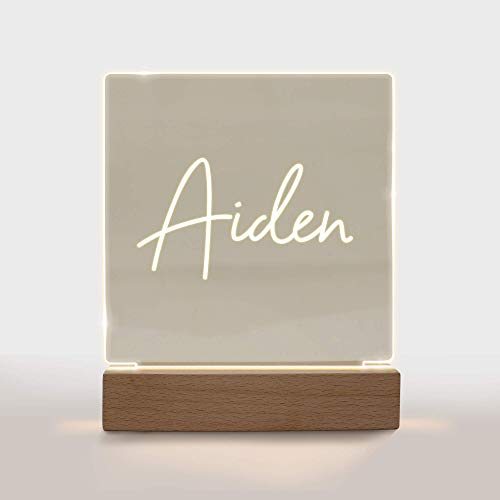 Personalized Night Light for Kids Girls Boys Customized Gifts for Baby Boy Bedroom Add Name