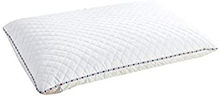 PiloMio by Qbedding Nature Adjustable Buckwheat Pillow | 100% Cotton Quilted Cover | Good for Relieve Muscle Tension, Neck Pain and Stress (15 inches x 24 inches)